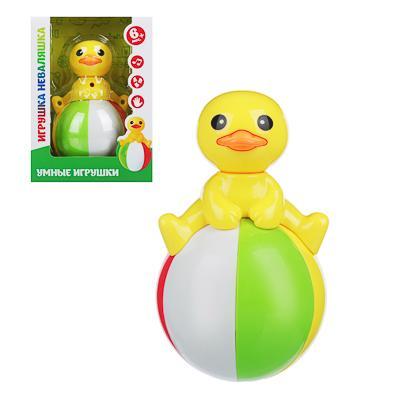 ИГРОЛЕНД Игрушка неваляшка, со звуком бубенцов, пластик, 12х8х16см, 4 дизайна