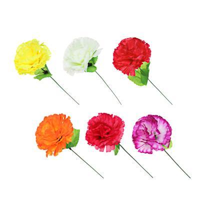 Цветок искусственный в виде гвоздики, 35-40 см, пластик, 6 цветов