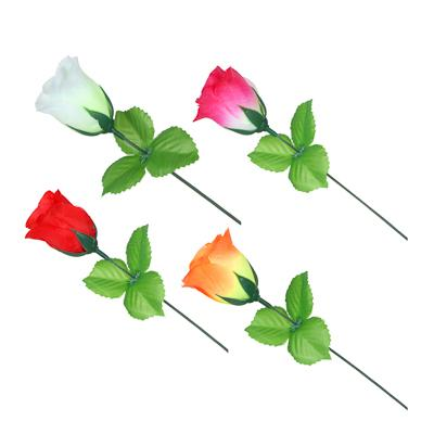 Цветок искусственный в виде розы, 35-40 см, пластик, 4 цвета