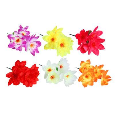 Цветок искусственный букет, 35-40 см, пластик, 6 цветов