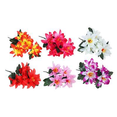 Цветок искусственный букет нарциссов, 30-35 см, пластик, 6 цветов