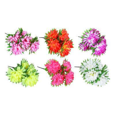 Букет искусственных цветов , 35-40 см, пластик, 6 цветов