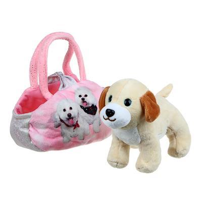 ИГРОЛЕНД Игрушка мягкая в сумке, текстильные материалы, 18х27х13см, 3 дизайна