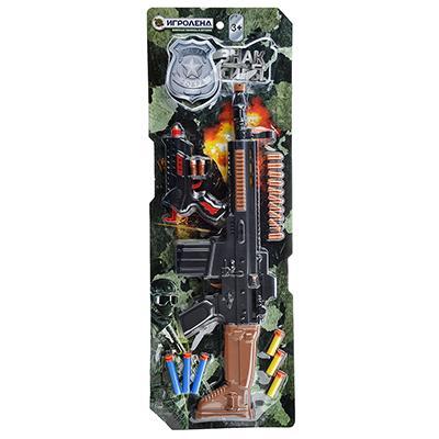 ИГРОЛЕНД Набор оружия с резиновыми и поролоновыми пулями, ABS, PVC, 49х15х4см