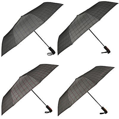 Зонт мужской, полуавтомат, сплав, пластик, полиэстер, 55см, 8 спиц, 4 цвета