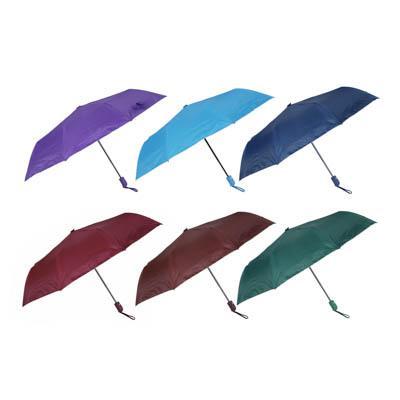 Зонт женский, полуавтомат, сплав, пластик, полиэстер, 55см, 8 спиц, 6 цветов
