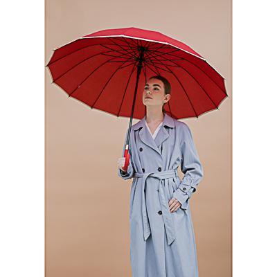 Зонт-трость женский, сплав, пластик, полиэстер, 65см, 16 спиц, 6 цветов