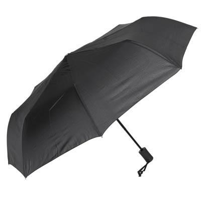 Зонт мужской, полуавтомат, сплав, пластик, полиэстер, 55см, 8 спиц, черный