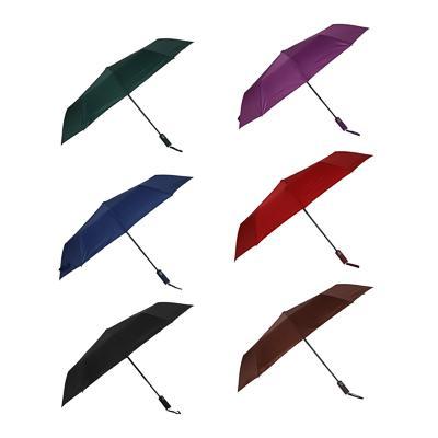 Зонт мужской, автомат, сплав, пластик, полиэстер, 55см, 8 спиц, 4-6 цветов