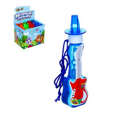 Мыльные пузыри в фигурной бутылке, 100мл,ABS,PVC, мыльный р-р, 13-14х5х3,5см, 4 цвета