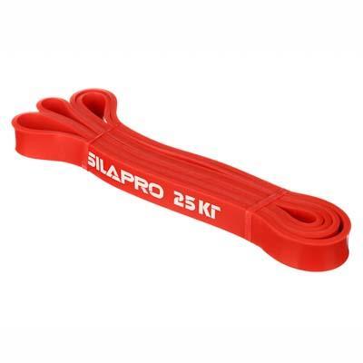 SILAPRO Лента для фитнеса силовая эластичная 208х0,45х2,2см, латекс, 25 кг