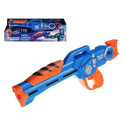 ИГРОЛЕНД Оружие в виде бластера с мягкими патронами, ABS, EVA, 16х5,5х17см