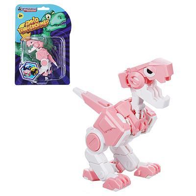 ИГРОЛЕНД Робот трансформирующийся карманный в виде динозавра, пластик, 8х5х8см, 3 дизайна