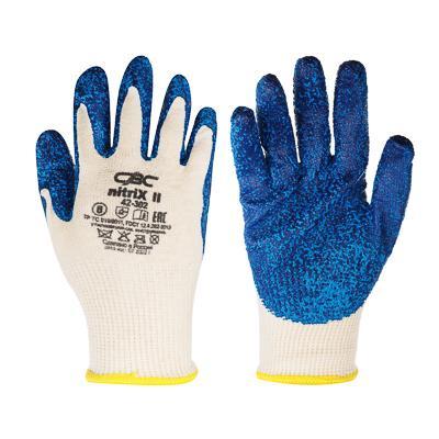 ЕРМАК Перчатки вязаные трикотажные с рельефным латексным покрытием