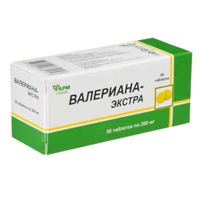 БАД Валериана-экстра, табл 200мг № 50