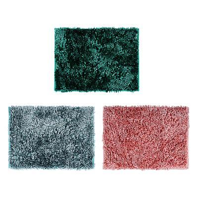 Коврик для ванной, синель, 3,5 см, 40х60 см, 3 цвета, VETTA
