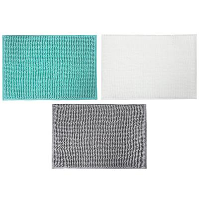 Коврик для ванной, синель, 1,2 см, 40х60 см, 3 цвета, VETTA