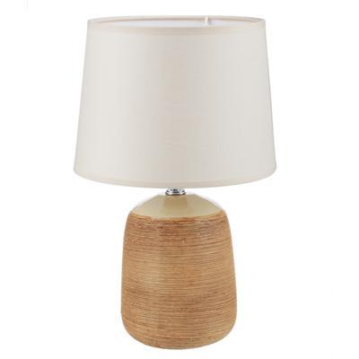 FORZA Лампа настольная, 30см, E27, 60Вт, керамика, текстиль, 3 цвета