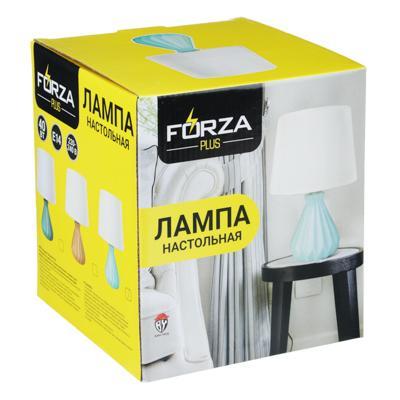 FORZA Лампа настольная, 27см, E14, 40 Вт, керамика, текстиль, 3 цвета