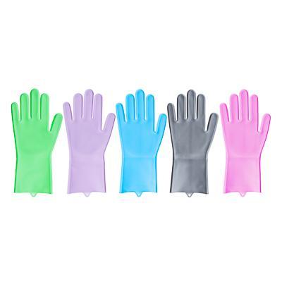 VETTA Перчатки для мытья посуды, 250 гр, силикон, 4 цвета