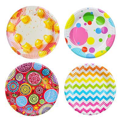 Набор бумажных тарелок 6шт, d18см