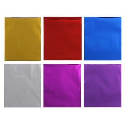 Набор подарочных пакетов ПВХ с клейким слоем, 5 шт 12х14см, 6 цветов