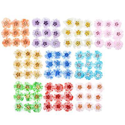 Набор для декора, пластик, полиэстер, 8-10 цветов, 9 шт