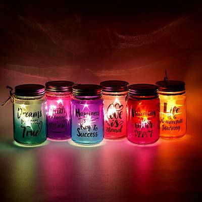 LADECOR Светильник LED декоративный, стекло, 8Х13,5СМ, 6 цветов, 2*AAA, 1 РЕЖИМ СВЕЧЕНИЯ