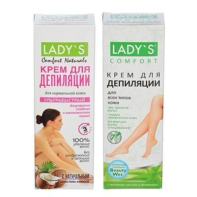 Крем для депиляции LADY S для всех типов кожи / для нормальной кожи, 100 мл