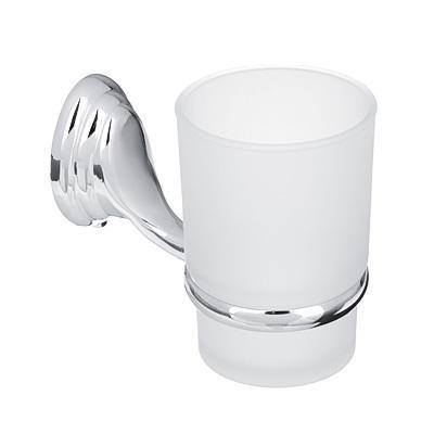 Стакан подвесной для зубных щеток SonWelle Классик, хром/стекло