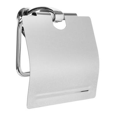 Держатель для туалетной бумаги с крышкой SonWelle Классик, хром