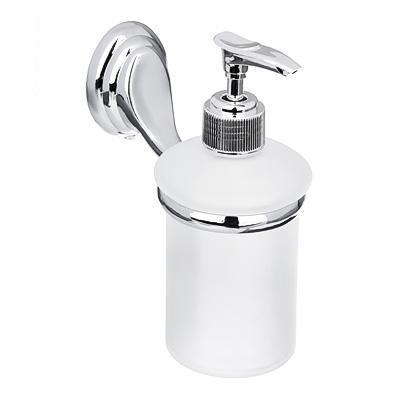 Дозатор настенный для жидкого мыла SonWelle Классик, хром/стекло