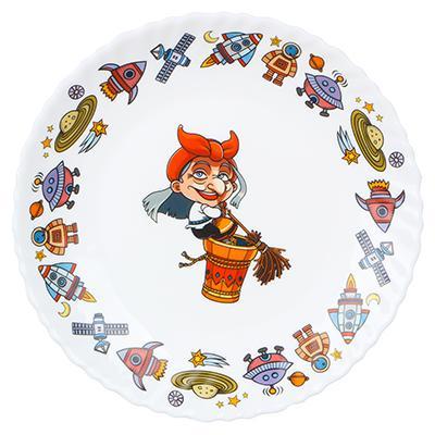 MILLIMI Бабуся Ягуся Тарелка 19см, опаловое стекло