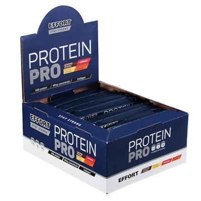 Батончик Effort Protein pro, 50г, 2 вида: шоколад печенье / ваниль печенье