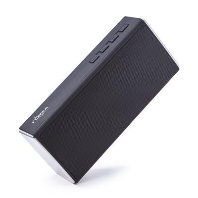 Колонка беспроводная FORZA 2x3 Вт, 1200мАч, БТ 5.0, 22x10x5.6см, прорезиненная, черная, пластик