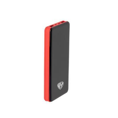FORZA Аккумулятор мобильный, 10000 мАч, 2 USB, Type-C, 2А, 3 цвета, глянцевая панель