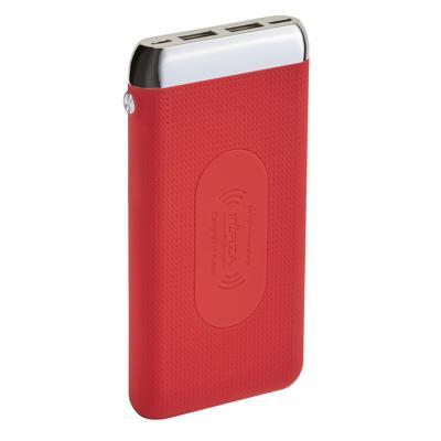 FORZA Аккумулятор мобильный, 8000 мАч, 2xUSB, 2А, с беспроводной зарядкой, прорезиненный, 3 цвета