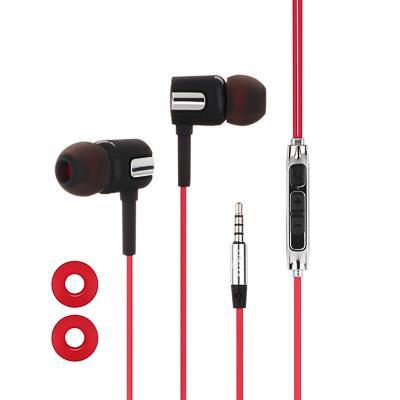 Наушники вакуумные FORZA 120см, с микрофоном, пластик, 3 цвета