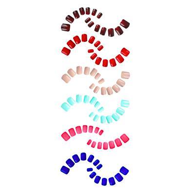Набор накладных ногтей на клеевой основе ЮниLook, 24 пластины