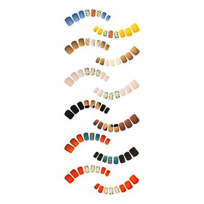Набор накладных ногтей на клеевой основе ЮниLook, 24+6 пластин с декором