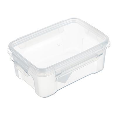 Контейнер для продуктов с защелками прямоугольный 0,75л, пластик, прозрачный