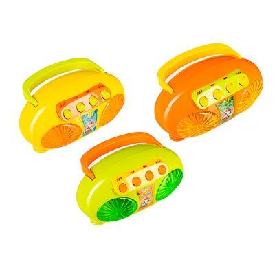 ИГРОЛЕНД Плеер-магнитофон, свет, звук, 2АА, ABS, 13х10х8см, 3 дизайна