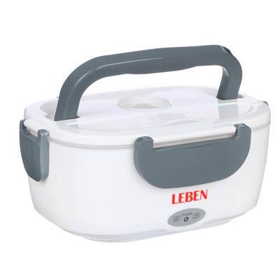 LEBEN Контейнер для еды с подогревом, 220В, пластик, металл, 22,5x16,7x9,5см 288-023
