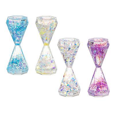 Часы-антистресс, с блестящим наполнителем, 13,5х5,5 см, пластик, 4 цвета