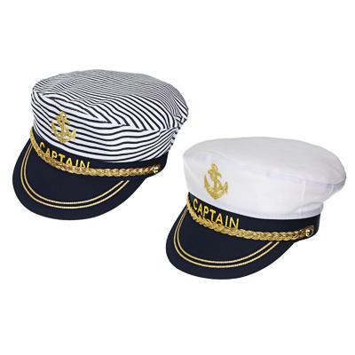 GALANTE Кепка мужская капитанская, 100% полиэстер, пластик, р-р 58, 2 дизайна, ШЛ20-32