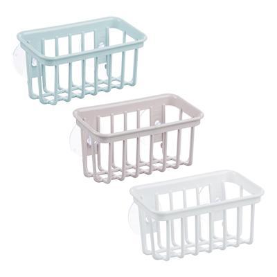 VETTA Романтика Полочка для ванной комнаты на присосках, пластик, 17,5х7,5х9см, 3 цвета