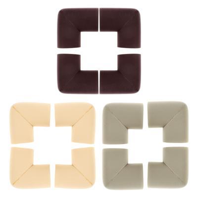 VETTA Накладки - протекторы на углы, 4шт, 6х3 см, каучук, 3 цвета