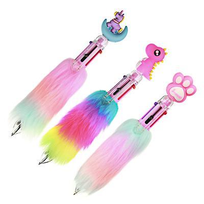 Ручка шариковая 6-цветная, радужный