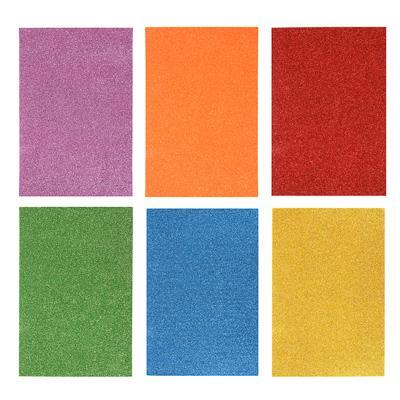 LADECOR Наклейка глиттер, 20х30см (22х36 см), ПЕВА, 6 цветов