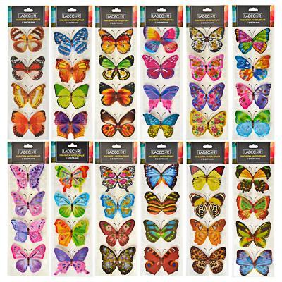 LADECOR Наклейка интерьерная, с бабочками, 41х12 см, ПВХ, 12 дизайнов